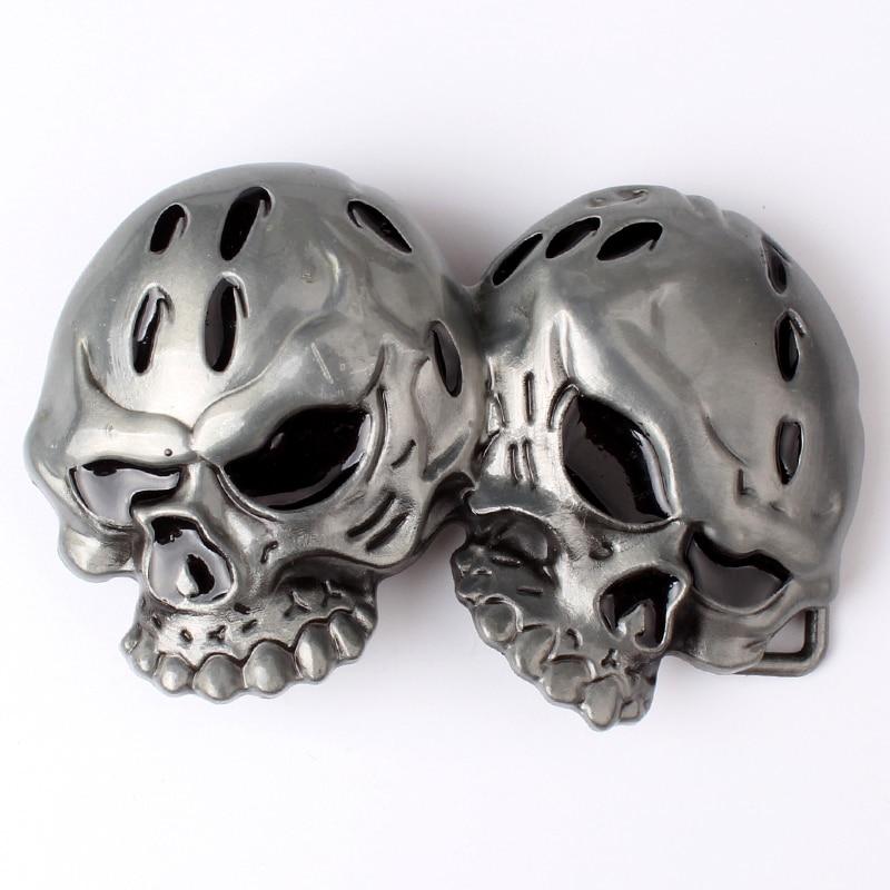Two Skulls  Belt Buckle