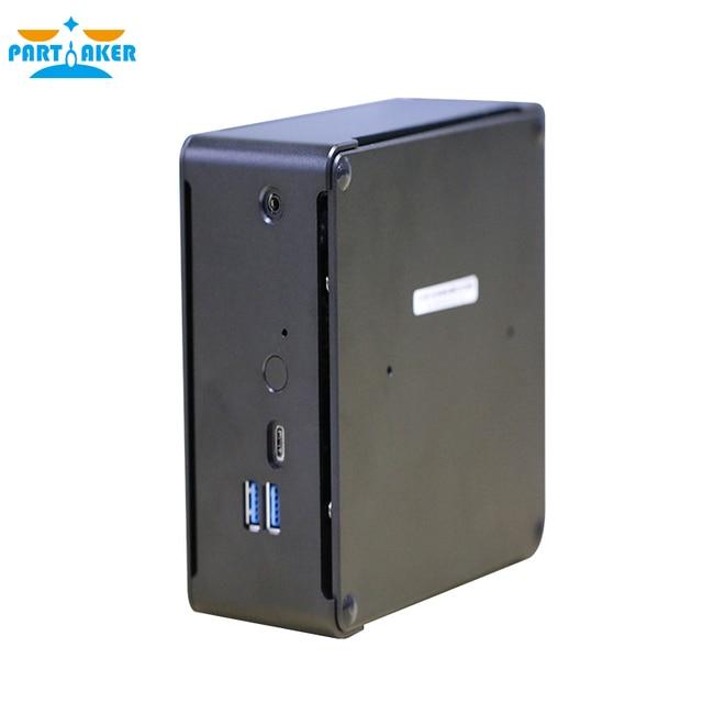 Partaker i7 8750 H Кофе озеро 8th Gen Мини ПК Windows10 с процессором Intel Core i7 8750 H Intel UHD Графика 630 дисплейный порт MiniDP типа «HDMI WiFi DDR4 3