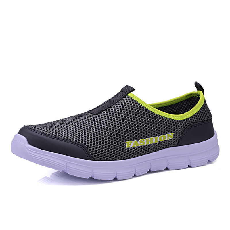 Fashion summer shoes men casual water shoes air mesh shoes large sizes 38 46 lightweight breathable slip on chaussure homme|Men's Casual Shoes| |  - title=