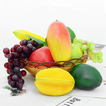 Artificial Fruit Lifelike Simulation Fruits Decorative Plastic Solid Cabinet Home Decor Party Fake Fruit Model Mold Photo Prop