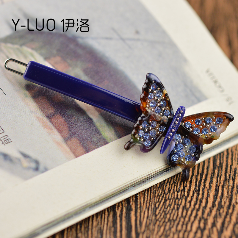 Women headwear vintage hair pin rhinestone hair clips for girls butterfly hair accessories for women in Women 39 s Hair Accessories from Apparel Accessories