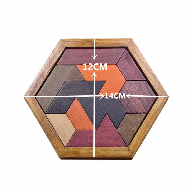 Kids Puzzles Wooden Toys Tangram/Jigsaw Board Wood Geometric Shape P Children Educational Toys 11