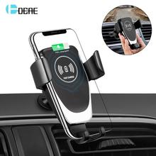 DCAE Wireless Car Charger Mount Auto Clamping Air Vent Phone Holder 10W Fast Charging for iPhone Xs Max XR X 8 Samsung S10 S9 S8