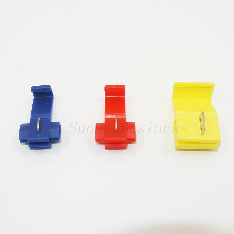 50PCS Blue/Red/Yellow Scotch Lock Wire Electrical Cable Connectors Quick Splice Terminals Crimp