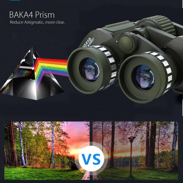 60x50 Night Vision HD Binoculars Military Zoom Powerful Adjustment Outdoor Hunting Optics Astronomical Telescope 4