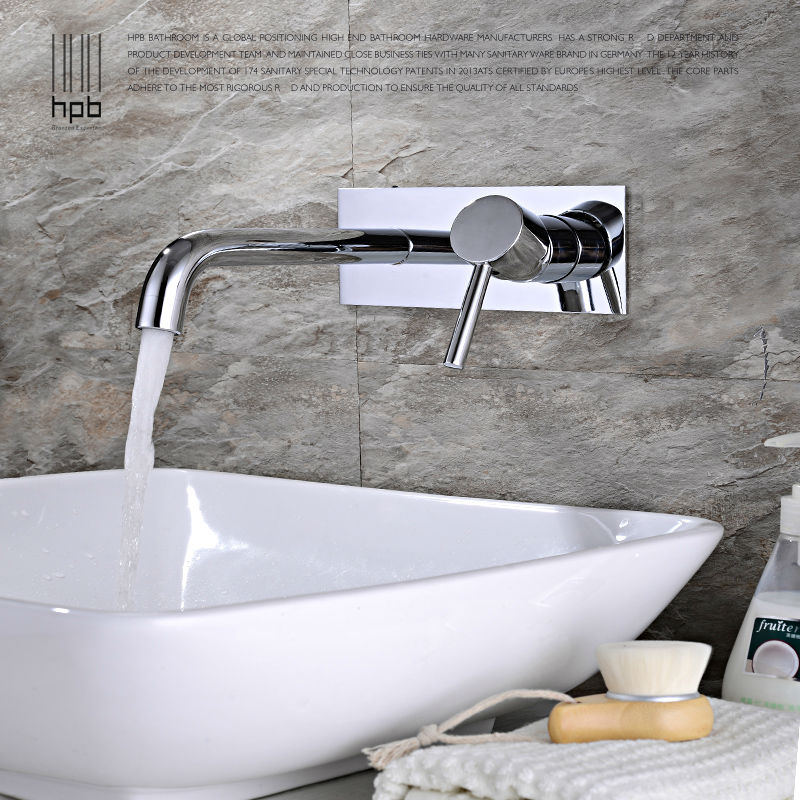 HPB Contemporary Concealed Basin Mixer Hot and Cold Water Bathroom Faucet Wall Mounted Mixer Tap torneira banheiro HP3306 free shipping concealed installation black color basin faucet hot and cold water wall mounted basin faucet bf999a