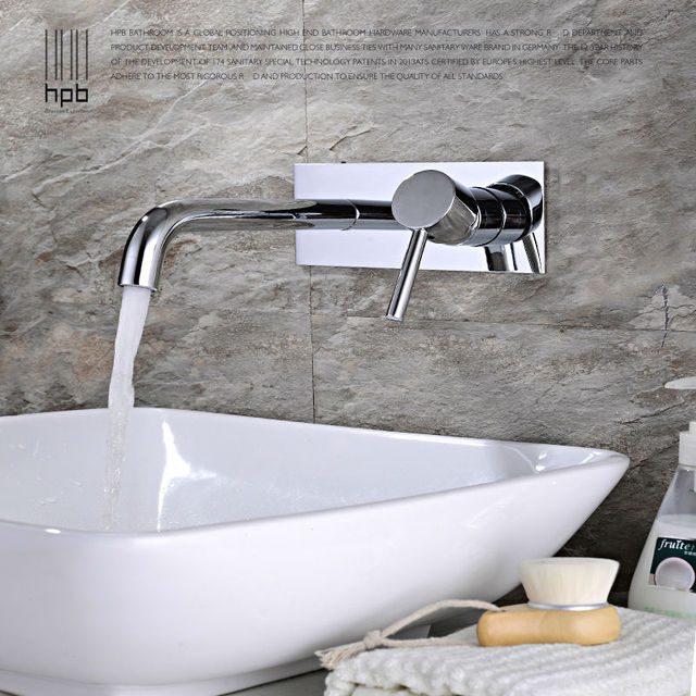 HPB Contemporary Concealed Basin Mixer Hot and Cold Water Bathroom ...