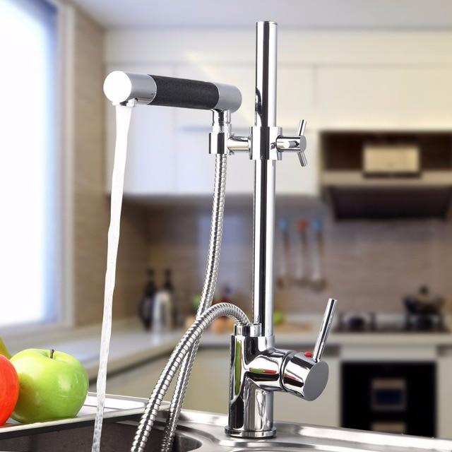BEST Kitchen Sink Faucet Adjustable Height For Washing Kitchen Sink  Washbasin Faucet 92350 Hot U0026 Cold