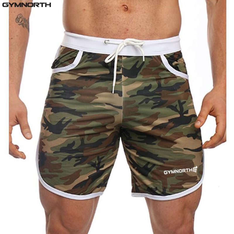 GYMNORTH Camouflage Print Shorts Men 2018 Brands Short Trousers  Bodybuilding Sweatpants Fitness Short Jogger Casual Men Shorts