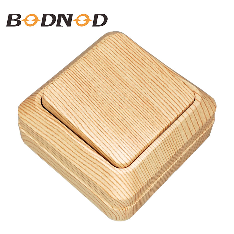 Light Switch One Gang One Way Switch Wood Grain Light Beech Color Inset Wall Switch DIY 10A 250V Legrand Schneider Livolo(China)