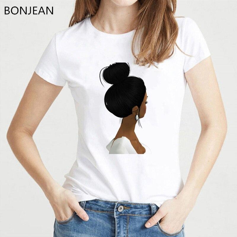vogue black girl print t shirt femme Melanin Poppin Women T Shirt harajuku shirt summer tops tee female t shirt tumblr clothes in T Shirts from Women 39 s Clothing