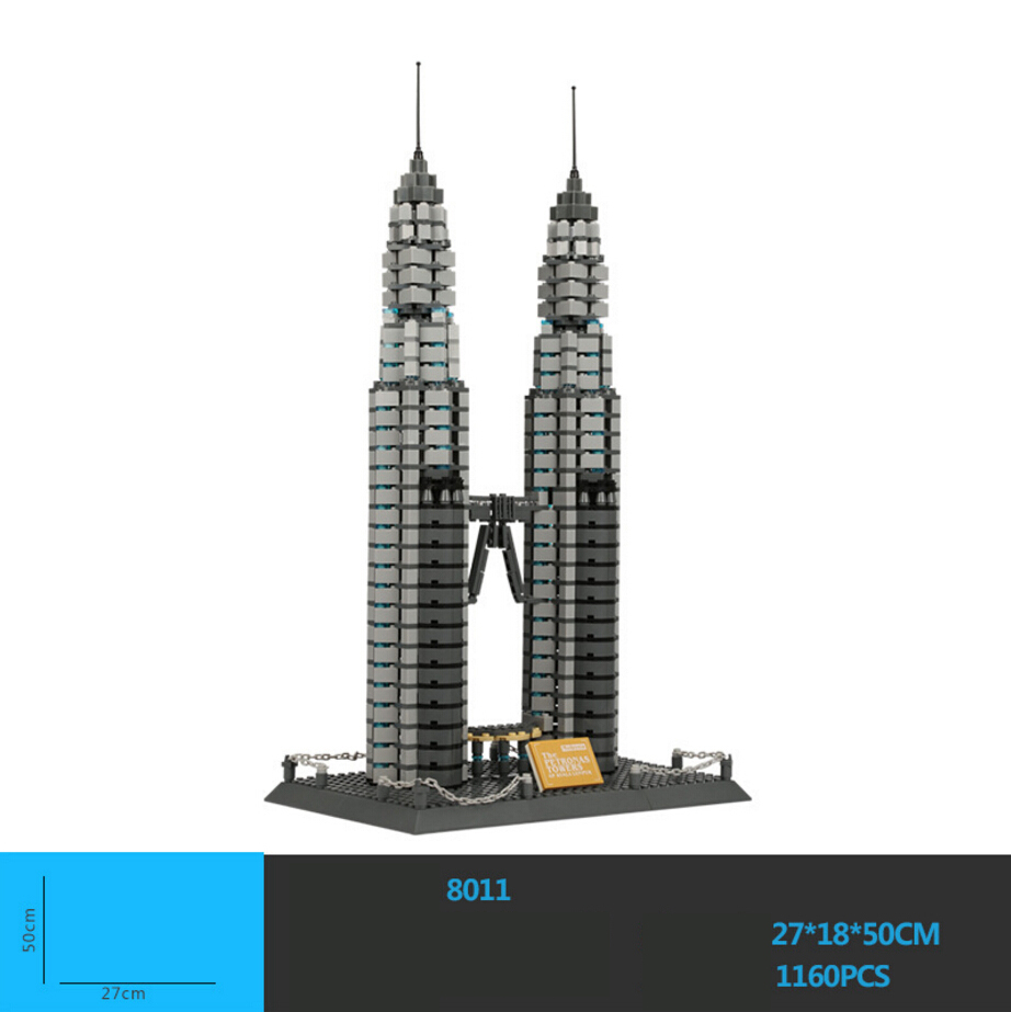 Hot World Famous Architecture Kuala Lumpur Malaysia Petronas Twin Towers Building Block Model Bricks Educational Toys Collection papson stephen landscapes of capital