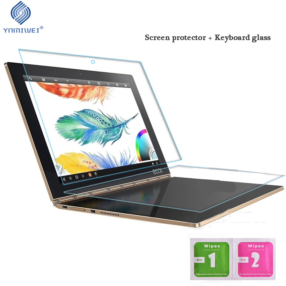 US $6 75 55% OFF|YNMIWEI For Yoga Book Glass Protector + Keyboard Glass  Full Cover For Lenovo Yoga Book 10 1 YB1 X91F Screen Protectors-in Tablet