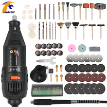 Tungfull Dremel Style Electric Rotary Tool Variable Speed Mini Drill Tool Polish Engraving Drilling With Flexible Shaft Cutting