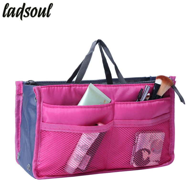 LADSOUL Multi-function Makeup Organizer Bags Women Cosmetic Bags Big Size Makeup Bag Good Quality Make Up Toiletry Bags lm2136/g ladsoul 2018 women multifunction makeup organizer bag cosmetic bags large travel storage make up wash lm2136 g