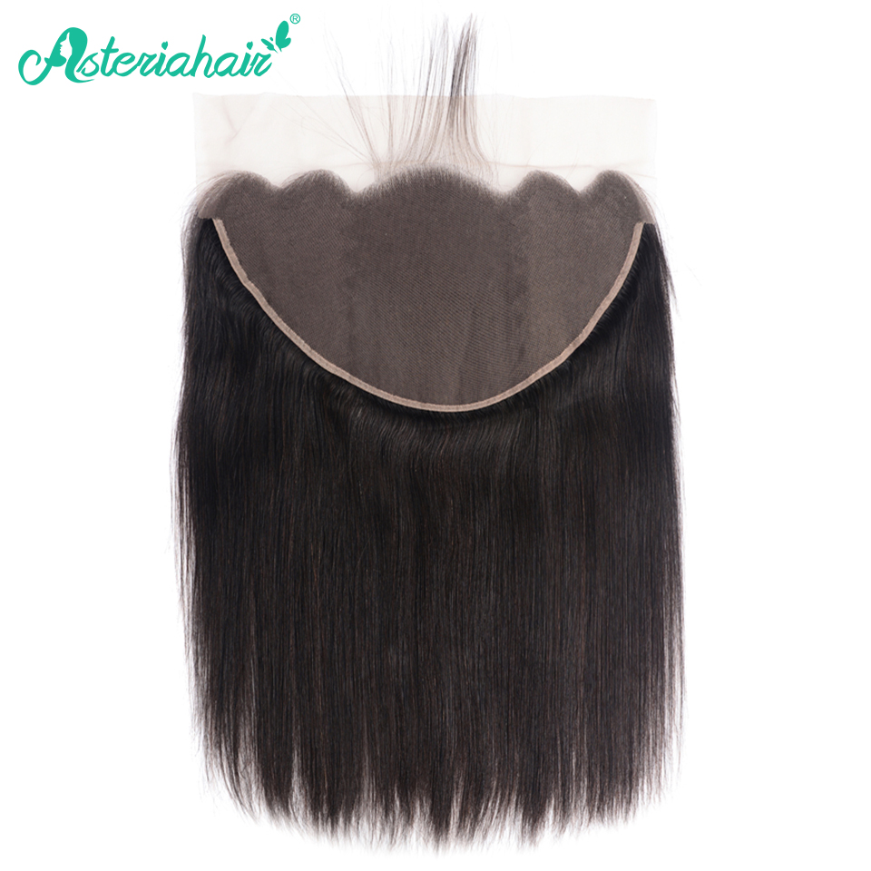 Asteria Hair Brazilian Straight Hair Lace Frontal 13x6 Pre Plucked Free Part 100% Human Hair 13X6 Lace Frontal Remy Hair