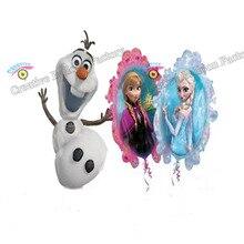 Novo 2 pçs/lote Princesa Elsa Anna Olaf Decorações Da Festa de Aniversário Balão de alumínio Fontes Do Partido Brinquedos Infantis Decorações de Casamento