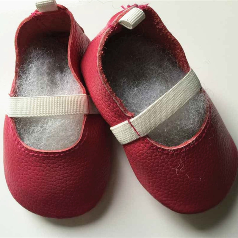 New style elastic band Genuine Leather baby shoes First Walkers The design Toddler baby  ...