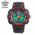 New SMAEL Sport Watch Men Dual Display Wristwatch Waterproof Shock Resistant LED Digital Sport Watch Male Clock relogio WS1366