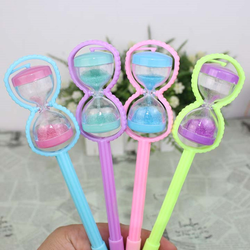 Creative Cute Hourglass Plastic Gel Pen Kawaii Candy Color Pens For Kids Gift School Supplies Student 3193 6pcs cute small fresh candy color ice cream gel pen creative gift school supplies random color
