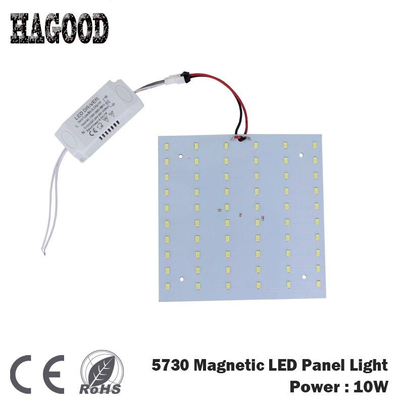 все цены на on Sale 180-265V LED Panel Lamp Square 10W SMD 5730 Magnetic LED Ceiling Light Bulb LED Board for Panel Light DIY Free Shipping онлайн