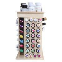 104 Holes Handmade Rotating Display Wooden Shelf Circle Rack for Essential Oil Bottles Luggage Or Cosmetics Medicine Sorting 4