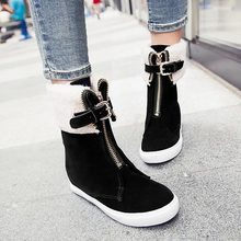 2014 New Arrival Korean version Fashion casual high-top cotton padded shoes women winter warm snow boot flat ankle outdoor boots