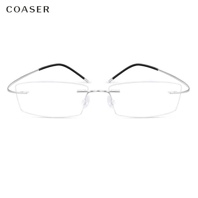 Super Light Titanium Eyeglasses Rimless Optical Glasses For Men Women Fit Myopia Prescription Glasses Lenses Computer Glasses