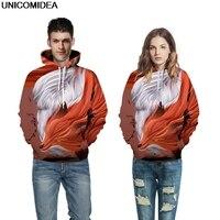 Fox 3D Printed Hoodies Sweatshirt Women Men Hooded Pullover Animal Autumn Jumper Sweatshirts Tracksuit Hoody Streetwear S 3XL
