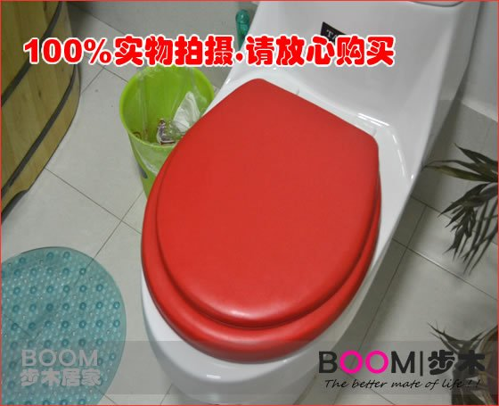 Magnificent Free Shipping Wholesale Soft Padded Toilet Seat Round Red Machost Co Dining Chair Design Ideas Machostcouk
