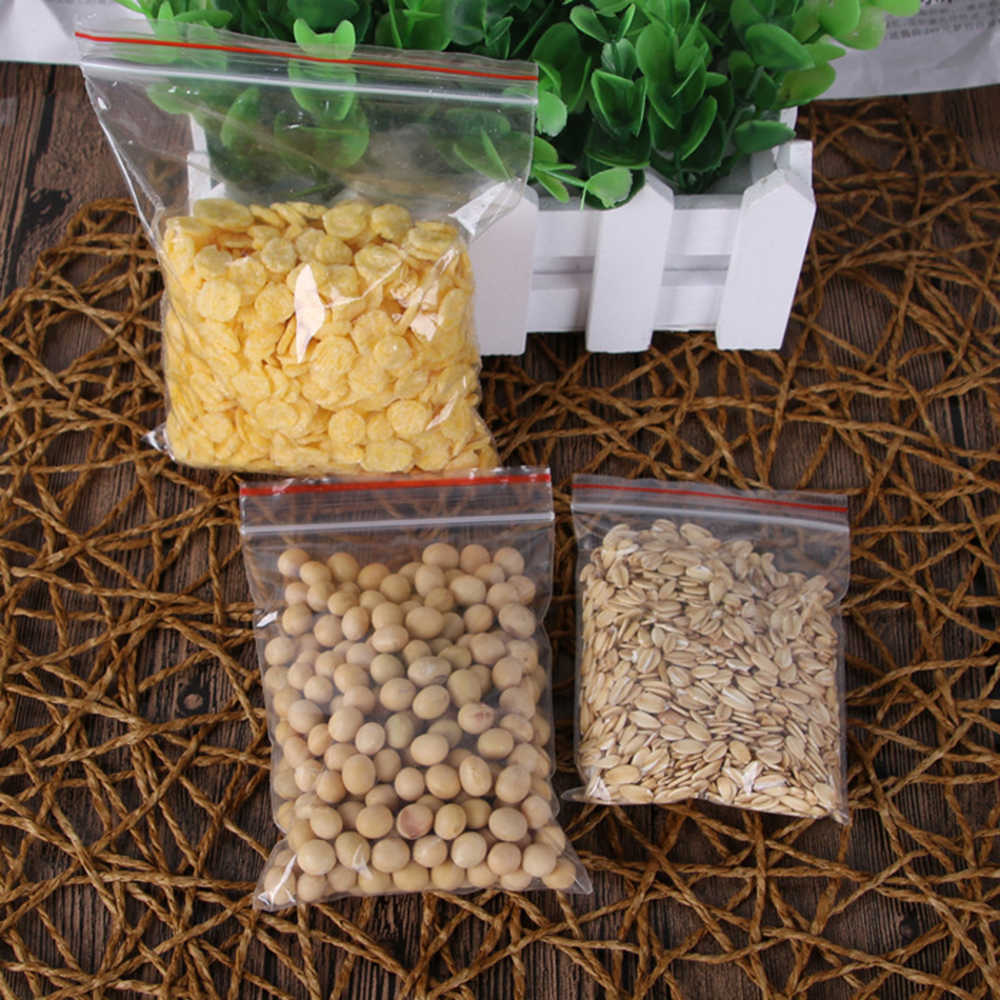 SUEF Clara Ziplock Zip Com Fecho de Bloqueio Reclosable saco Pacote De Armazenamento De Alimentos sacos de embalagem de Jóias Engrosse Plástico Poli sacos Zip @ 1
