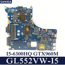 KEFU Laptop motherboard for ASUS ROG GL552VW GL552VX original mainboard HM170 I5-6300HQ GTX960M(China)