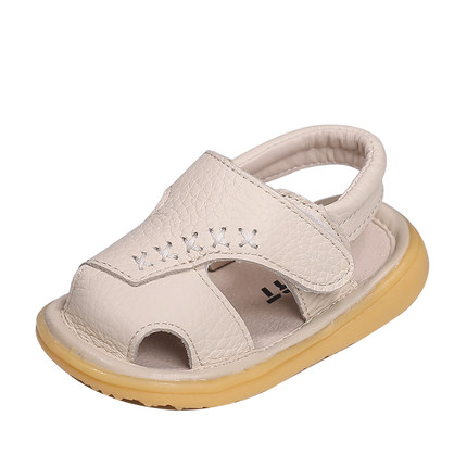 BabyToddler shoes 0 2 Years Old Girl Soft Bottom Baby Leather Breathable Toddler Shoes Summer Baby Anti kick Shoes in First Walkers from Mother Kids