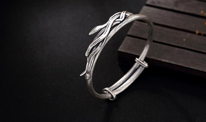 JOOCHEER Sterling S925 925 silver Bangle vine trendy bracelet size adjustableJOOCHEER Sterling S925 925 silver Bangle vine trendy bracelet size adjustable
