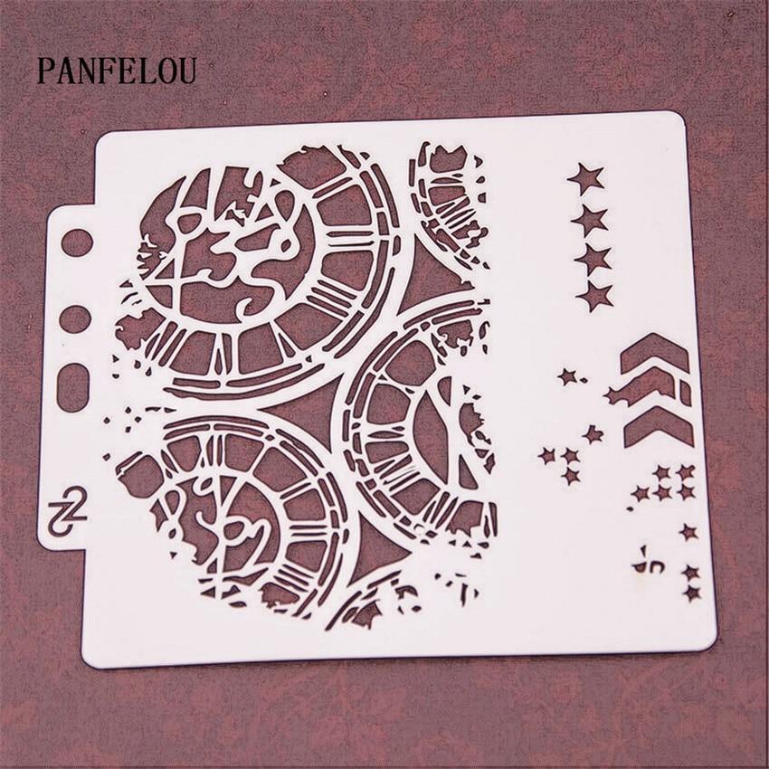 The Clock Runway Scrapbook Stencils Spray Plastic Mold Shield DIY Cake Hollow Embellishment Printing Lace Ruler Valentine