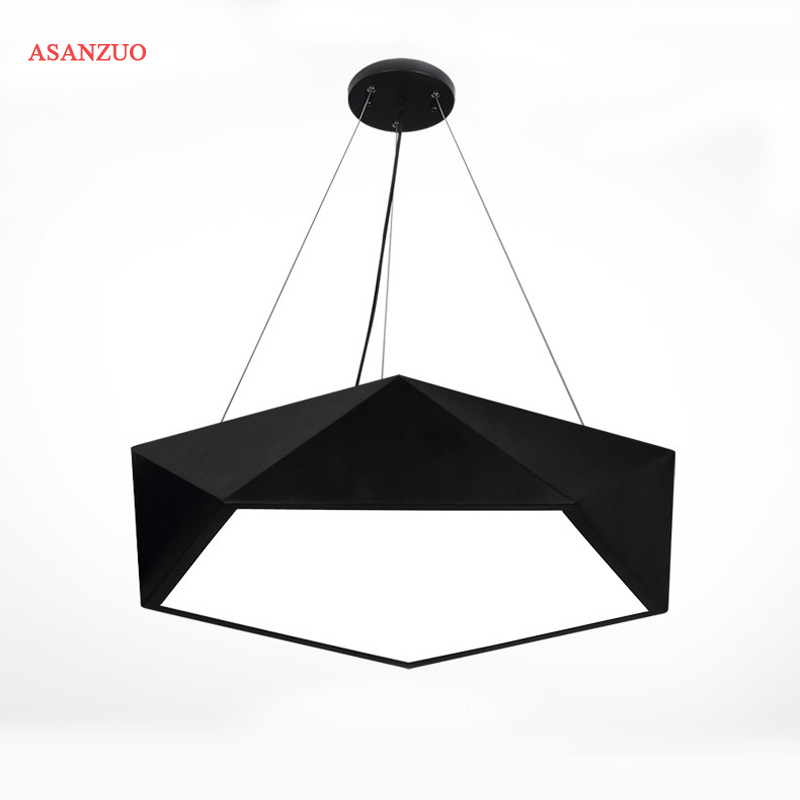 Modern geometry personality Pendant lights iron body diamond LED pendant lamp fixture brief home deco bedroom/living room lamp 2015 brief modern fashion circle pendant lights voltage 220 240v