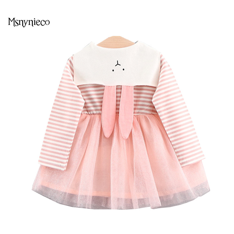 Spring Fashion Infant Dress 2018 Brand Baby Dress Casual Cotton Long Sleeve Stripe Girls Tutu Party Dresses Toddler Girl Clothes