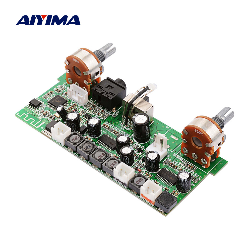 AIYIMA Amplificador Bluetooth 2.1 Subwoofer Amplifier Board 12Wx2+18W Mini Power Amplifiers MP3 WAV Audio Decoder Support AUX