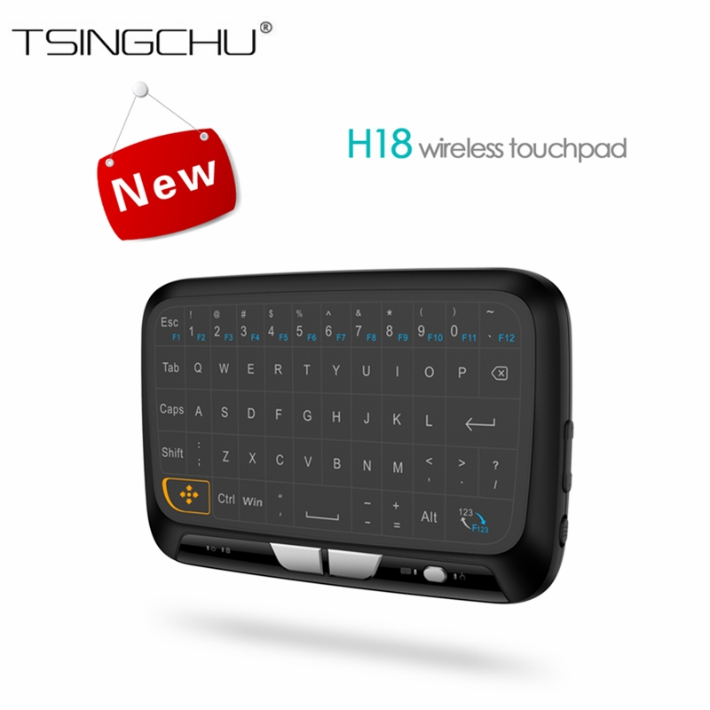[in Stock]Multifunction 2.4GHz H18 Keyboard Wireless Remote Control Full Touchpad For Windows PC/Android TV Box/Google/Pad PK i8 in stock h