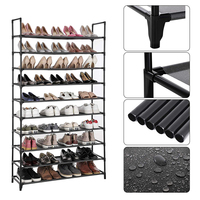 Multi Layer Shoe Rack High Quality Iron Pipe Easy Install Cabinet Shelf Home Storage Organizer Rack Stand Holder Space SavingHWC