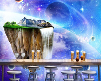 Beibehang Any Size 3d Wallpaper Fairyland Starry Sky Romantic Scenes Background Walls Papel De Parede Wallpaper