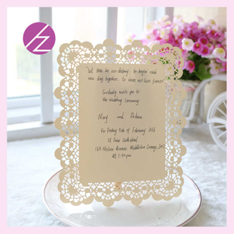Flower Embossed Invitations Cards New Elegant With Words On Japanese Acrylic Wedding Invitation Card With Laser Cut Design