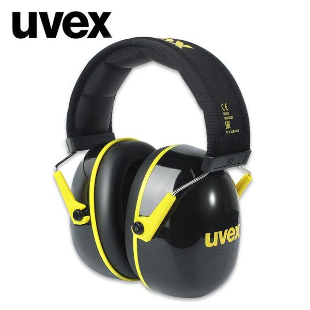 UVEX K2 عازلة للصوت غطاء للأذنين الحد من الضوضاء 32dB SNR قابل للتعديل عقال العمل الصناعي النوم السفر عازلة للصوت