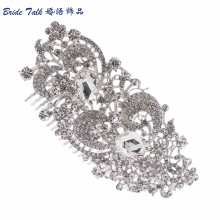 Women Hairpins Accessories Wedding Bridesmaid Flower Hair Comb Tiara Drop Rhinestone Crystals Bridal Jewelry Wholesale COFA2827