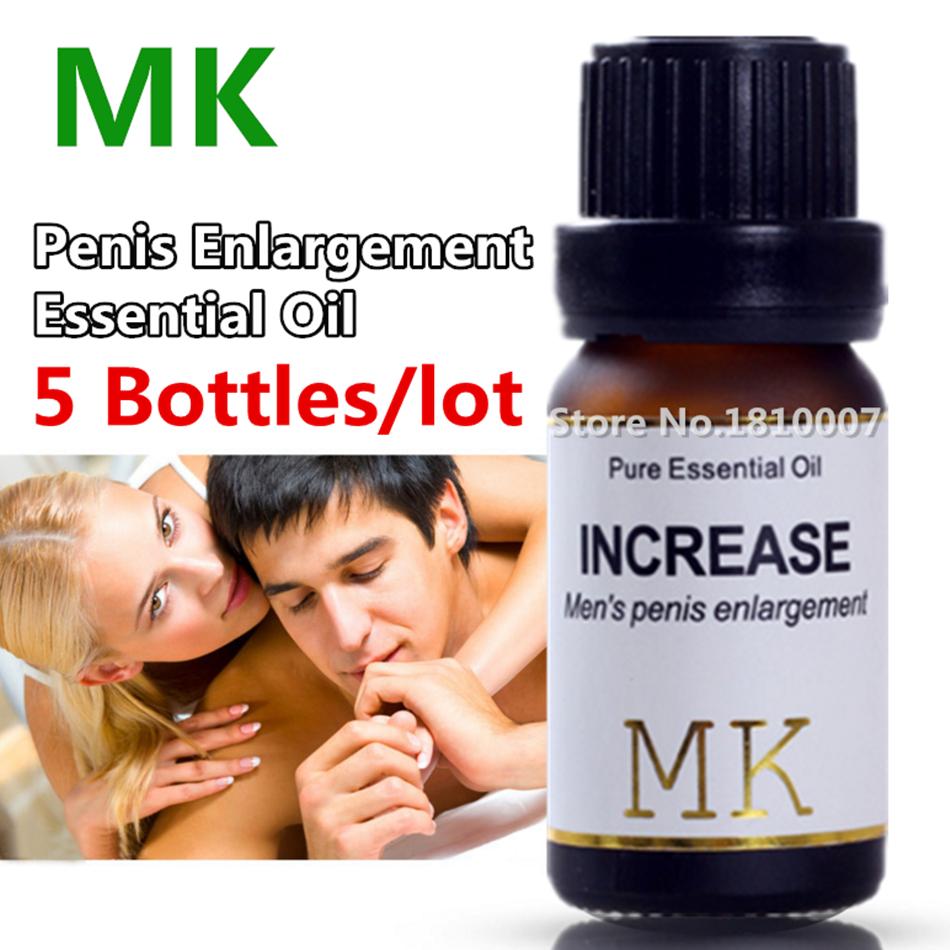 5 Botellas de aceite esencial de la ampliación Del Pene MK 10 ml Aumentar El Crecimiento de Extensión Sexo Delay Cream For Men Pene Extensor de Pene permanente
