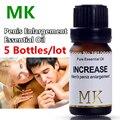 5Bottles MK Penis enlargement essential oil 10ml Increase Growth Extension Sex Delay Cream For Men Pene Penis Extender Permanent