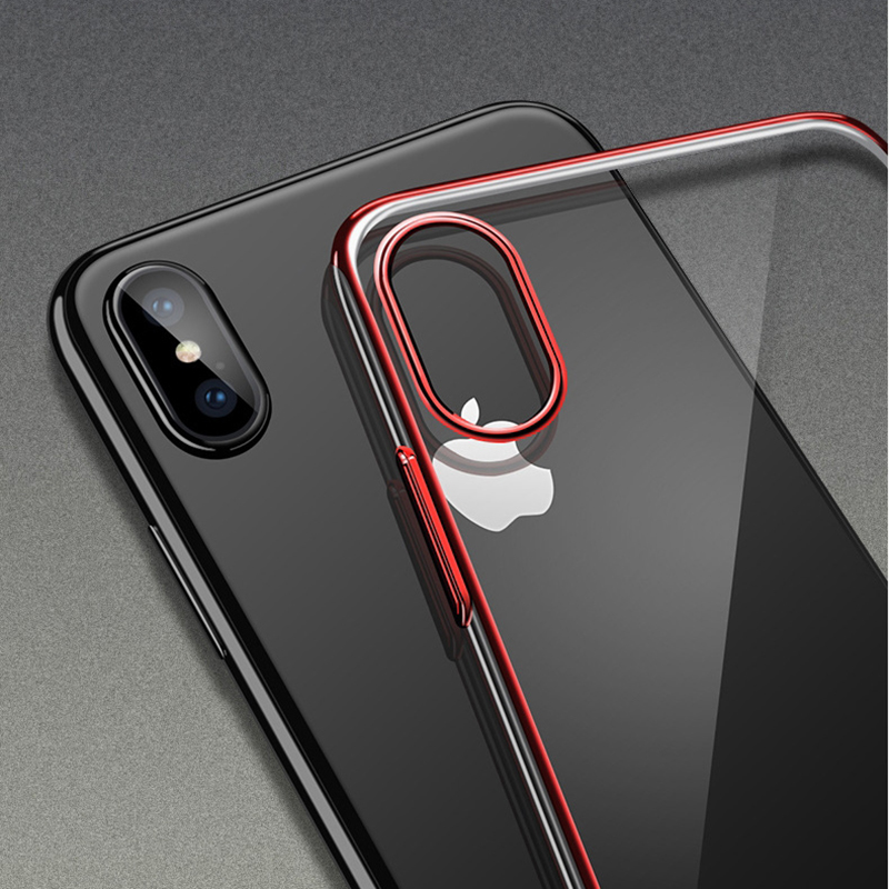 For iPhone X Case Luxury Soft Laser Plating Cover For iPhone 7 Case 6S 7 Plus Ultra thin Protective Cover For iPhone 8 Cases