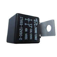Soporte EE, 10 Uds., alarma automotriz para camiones, 12 V, 12 voltios, CC, 40A, relé SPDT, 5 pines, accesorios para automóviles