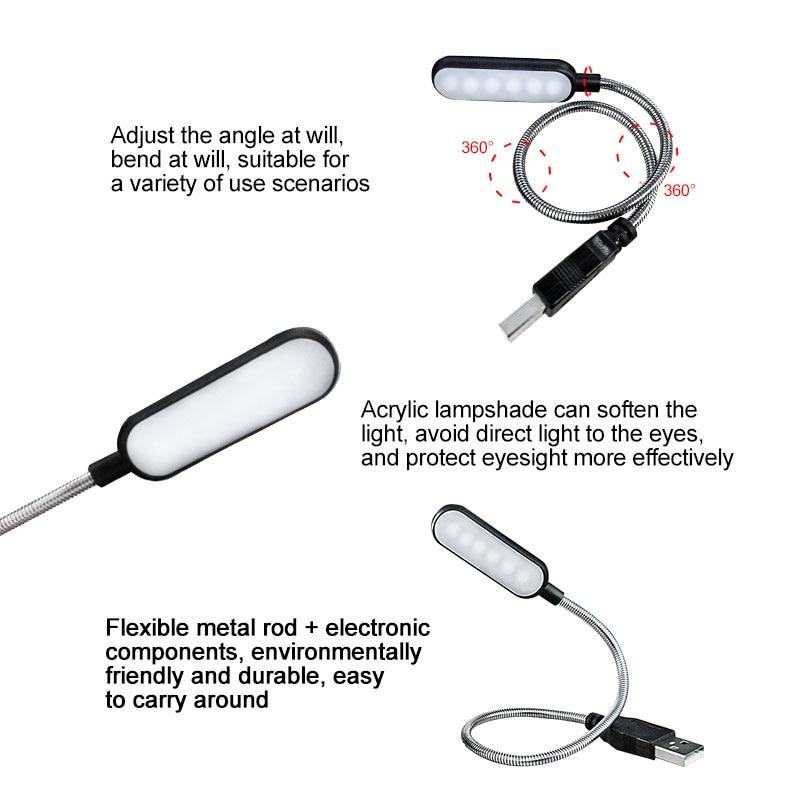 Portable USB LED Reading Light  5