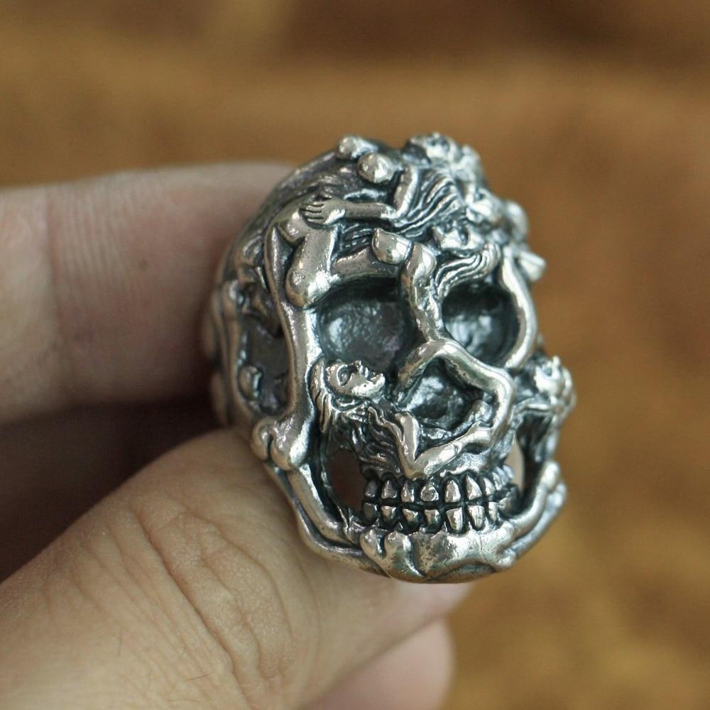 Sizes 8 3/4, 9 Stamped Silver Band Ring Navajo Artisan